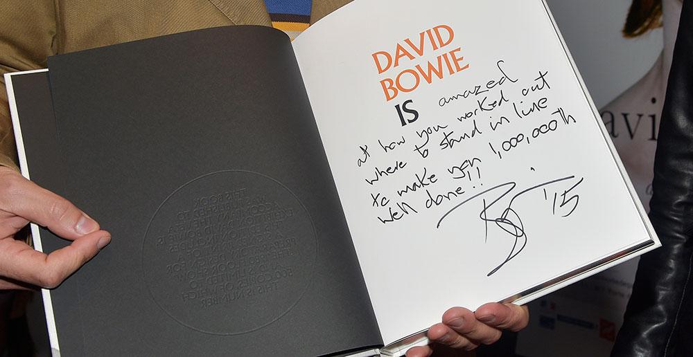 Dédicace de David Bowie